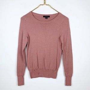 Ann Taylor Button Detailed Scoop Neck Sweater